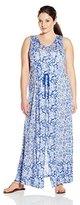 Lucky Brand Women's Plus-Size Mixed-Print Dress