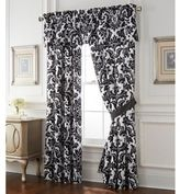 Rose Tree Symphony Lined Window Curtain Panel Pair in Black/White