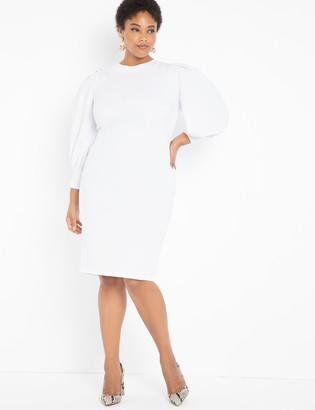 ELOQUII Cutout Back Dress