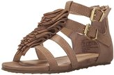 Kenneth Cole Reaction Audra Struck Fringe T-Strap Sandal (Little Kid/Big Kid)