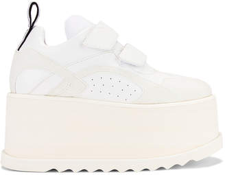 Stella McCartney Platform Velcro Sneaker in White | FWRD