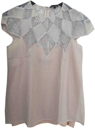 Tocca Beige Cotton Top for Women
