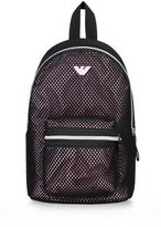 Armani Junior Mesh Technical Fabric Backpack