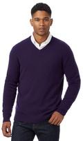 J By Jasper Conran Purple Merino Wool With Cashmere V Neck Jumper And Gift Box
