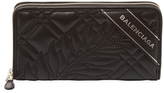 Balenciaga Quilted Leather Long Wallet