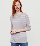 LOFT Lou & Grey Striped Signaturesoft Boatneck Tunic