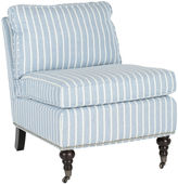 Safavieh Petite Linen Accent Chair, Blue/White