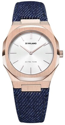 D1 Milano Denim Strap Watch