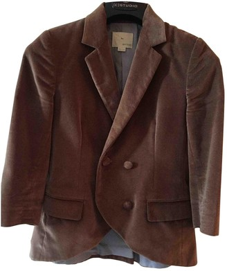 Band Of Outsiders Brown Velvet Jacket for Women
