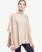 Ann Taylor Extrafine Merino Wool Topped Poncho