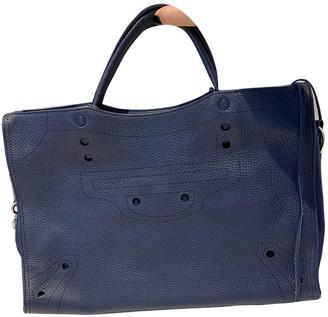 Balenciaga Blackout Navy Pony-style calfskin Handbags