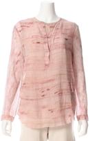 Raquel Allegra Marble Tie Dye Silk Henley