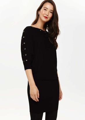 Phase Eight Becca Eyelet Knitted Dress