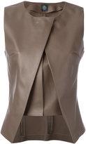 Eleventy panelled sleeveless top - women - Sheep Skin/Shearling - 40