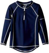 Toobydoo Navy Rashguard w/ Long Sleeves Kid's Swimwear