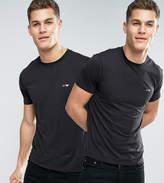 Armani Jeans 2 Pack T-shirt Regular Fit Black/black