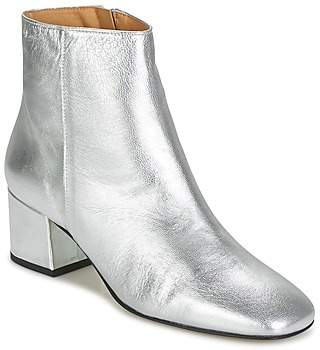 Betty London HERMINA women's Low Ankle Boots in Silver