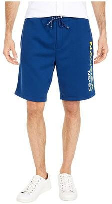 Nautica NS-83 Print Knit Shorts (Blue) Men's Shorts