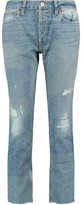 RE/DONE Mid-Rise Distressed Straight-Leg Jeans
