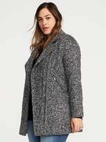 Old Navy Plus-Size Long Marled Moto Jacket