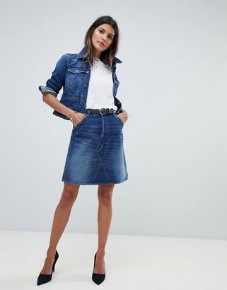 G Star G-Star denim mini skirt-Blue