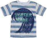 Charlie Rocket Stripe Surfer Dude Tee (Toddler/Kid) - White-2T