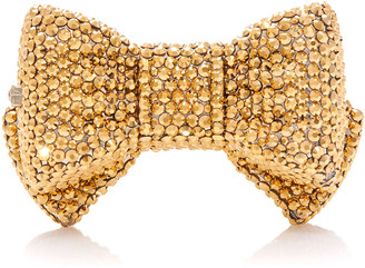 Judith Leiber Shimmery Bow Tie Crystal Pillbox
