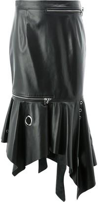 Monse Grommet-Details Trumpet Leather Skirt