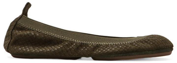 Yosi Samra Embossed Croc Flat