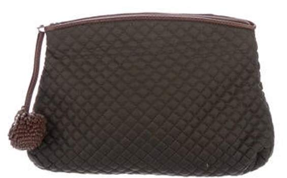c93baf43e2a0 Quilted Cosmetic Bag Olive Quilted Cosmetic Bag