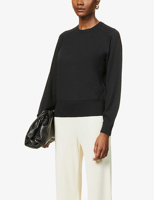 Theory Knitted crop cashmere jumper