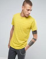 Cheap Monday Standard T-Shirt Stripe Spacedye Yellow
