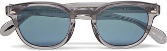 Oliver Peoples Sheldrake Round-Frame Acetate Sunglasses