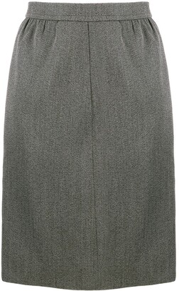 Saint Laurent Pre-Owned 1980's straight tailored skirt