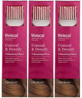 Viviscal Conceal & Densify Volumizing Hair Fibres - Light Brown (3 pack)