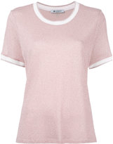 Dondup pleated back T-shirt - women - Polyamide/Polyester/Viscose/Metallic Fibre - S