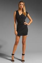 Susana Monaco Light Supplex Gathered Wrap Dress