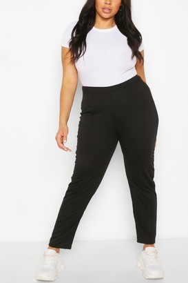 boohoo Plus Tailored Straight Leg Jogger