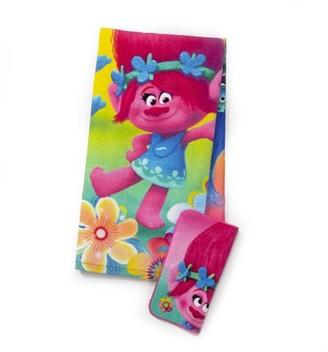 Trolls Kids 2Pc Bath Towel and Wash Cloth Set, 1 Set Each