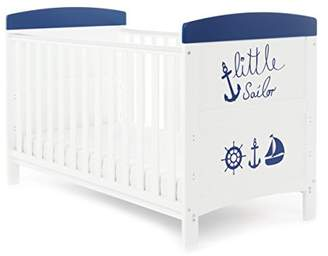 O Baby Obaby Grace Inspire Cot Bed and Dual Core Breathable Mattress - Little Sailor