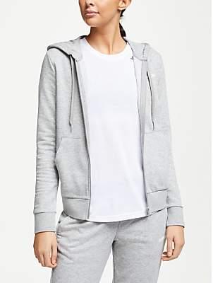adidas Essentials Solid Full Zip Hoodie, Grey Heather
