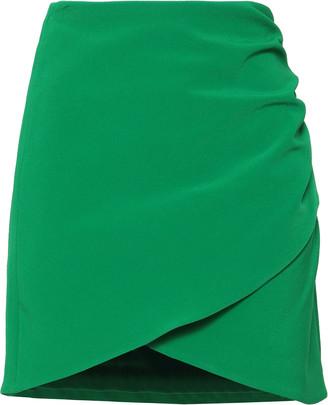 Alice + Olivia Wrap-effect Stretch-crepe Mini Skirt