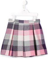 Il Gufo tartan pleated skirt