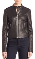 Theory Bavewick Leather Jacket