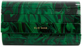 Elie Saab printed clutch bag - women - Acrylic - One Size