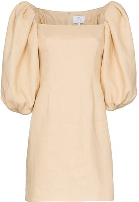 Rebecca De Ravenel puff sleeve dress