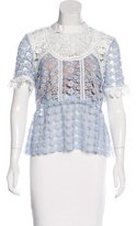 Self-Portrait Lace Short Sleeve Top w/ Tags