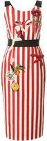 Dolce & Gabbana embellished striped dress - women - Silk/Cotton/Spandex/Elastane/glass - 40