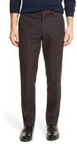 Bonobos Foundation Navy & Red Checkered Trim Fit Trouser - 30-34 Inseam