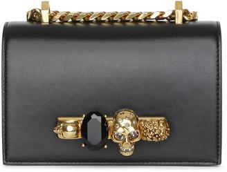 Alexander McQueen Mini Jewelled black and gold satchel